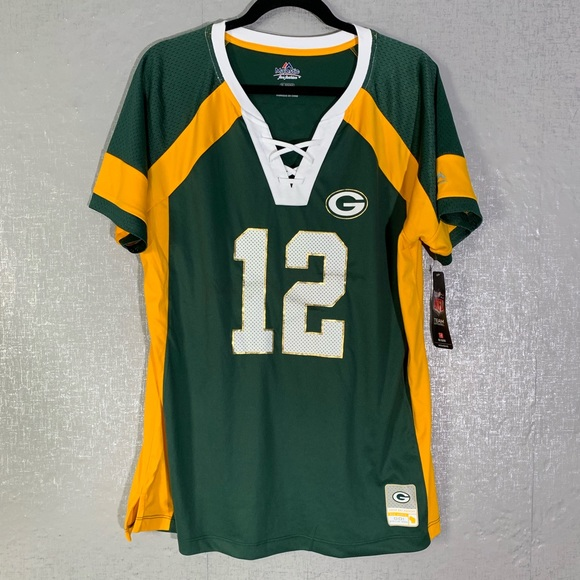 quality design 4718d 52d52 Majestic Green Bay Packers Aaron Rodgers Jersey NWT